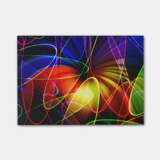 Soundwaves Neon Fractal Post-it Notes