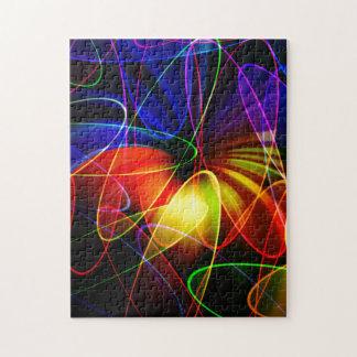 Soundwaves Neon Fractal Puzzle