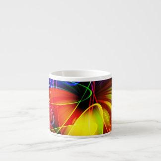 Soundwaves Neon Fractal Espresso Cup