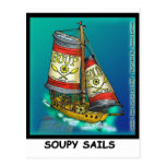 Soup  And Sails Funny Gifts & Collectibles Postcard