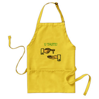 Soup Apron Cartoon Chef Hands and Wooden Spoon