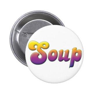 Soup Pinback Button