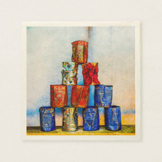 Soup Cans - After The Lunch Napkin