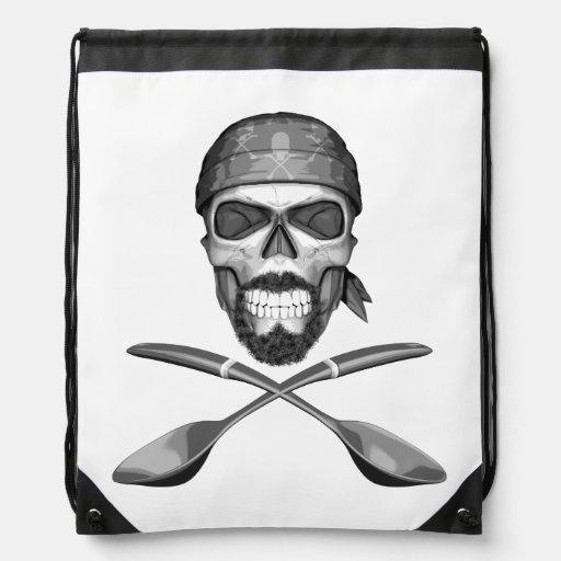 Soup Chef Skull Drawstring Bag