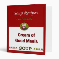 Soup cook book cookbook covers binder recipes