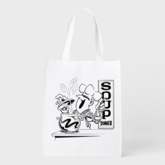 Soup Dinner Reusable Grocery Bags