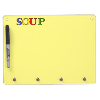 SOUP DRY ERASE BOARD WITH KEYCHAIN HOLDER