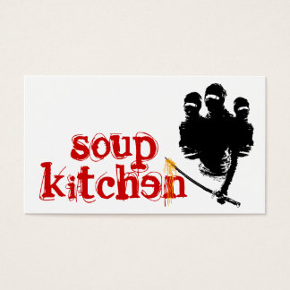 soup kitchen : ninja noodles business card