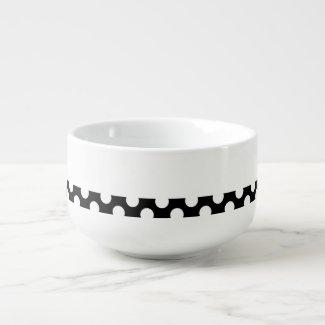 Soup Mug Polka Black
