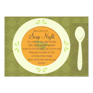 Soup Night Card