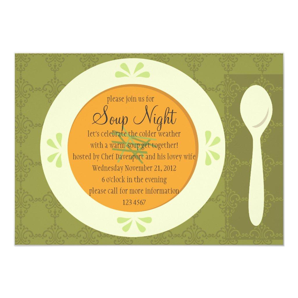 Soup Night Invitation