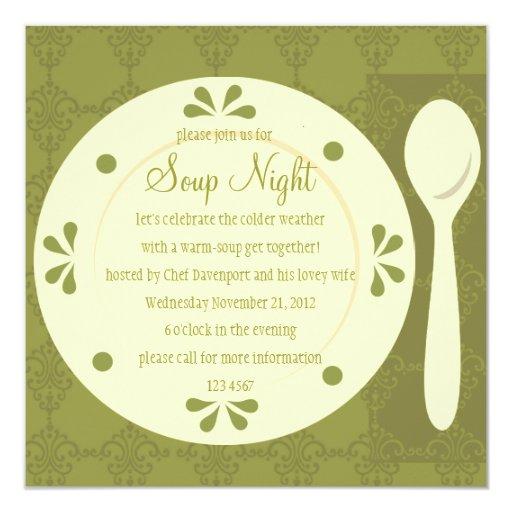 Soup Night Personalized Invitation
