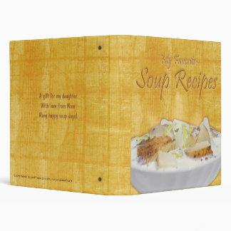 "Soup Recipes (1.0"") Binder"