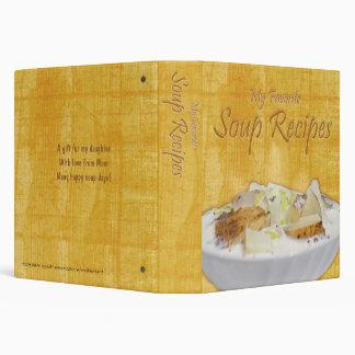 "Soup Recipes (1.5"") Binder"
