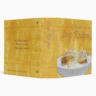 "Soup Recipes (2.0"") 3 Ring Binder"