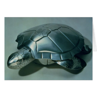 Soup tureen in form of a turtle, 1790's card