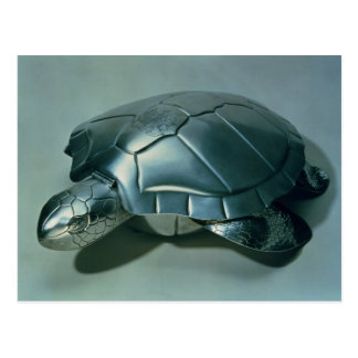 Soup tureen in form of a turtle, 1790's postcard