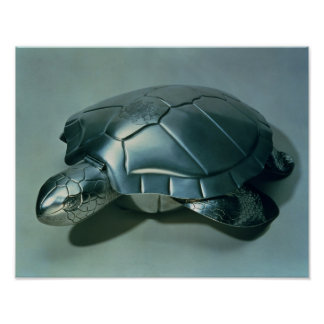 Soup tureen in form of a turtle, 1790's poster