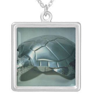 Soup tureen in form of a turtle, 1790's square pendant necklace