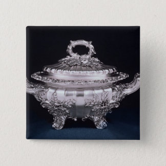 Soup tureen, one of a pair, made by Paul Storr Pinback Button
