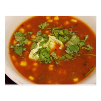 Soup with Cilantro Card Post Card