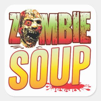 Soup Zombie Head Sticker