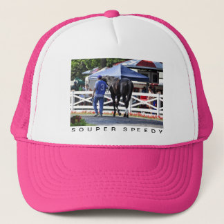 """""""Souper Speedy"""" The James Marvin Stakes Trucker Hat"""