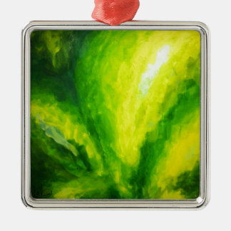 SOUR AND THE BIRD original painting by FabSpark Square Metal Christmas Ornament