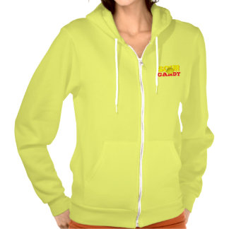 Sour Candy Yellow Lemon Zip Hoodie