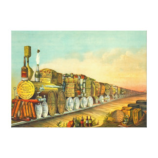 Sour Mash Express 1877 Canvas Print