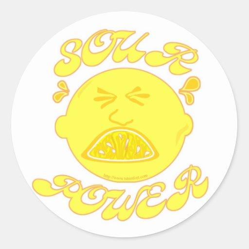 Sour Power! Classic Round Sticker