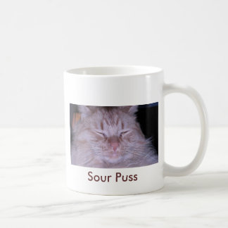 Sour Puss/Orange Tabby Kitten Coffee Mug