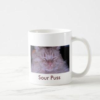 Sour Puss/Orange Tabby Kitten Coffee Mug
