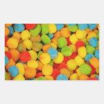 Sour Soft Candies Rectangular Sticker