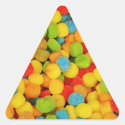 Sour Soft Candies Triangle Sticker
