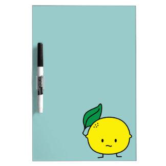 Sour yellow lemon leaf citrus fruit lemony Dry-Erase board