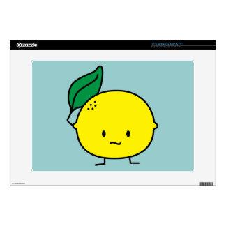 Sour yellow lemon leaf citrus fruit lemony laptop skin