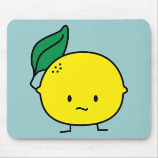 Sour yellow lemon leaf citrus fruit lemony mouse pad