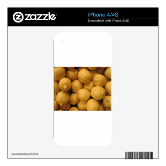 Sour Yellow Lemons iPhone 4S Decal