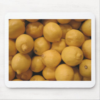 Sour Yellow Lemons Mouse Pad