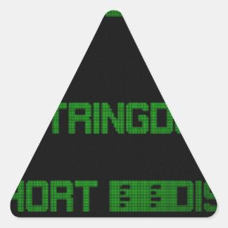 Source code led 01 triangle sticker