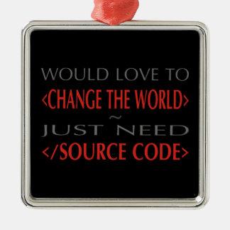 Source Code Metal Ornament