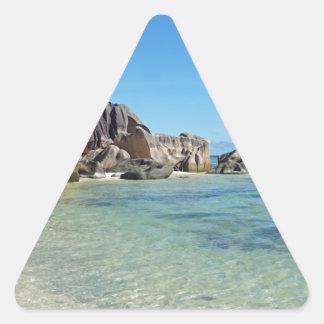 source d'argent triangle sticker