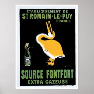 Source Fontfort Champagne Vintage Drink Ad Art