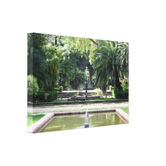 Source in Park of Maria Luisa, Seville Canvas Print