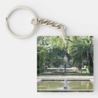 Source in Park of Maria Luisa, Seville Keychain