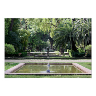 Source in Park of Maria Luisa, Seville Poster