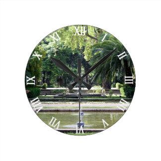 Source in Park of Maria Luisa, Seville Round Clock