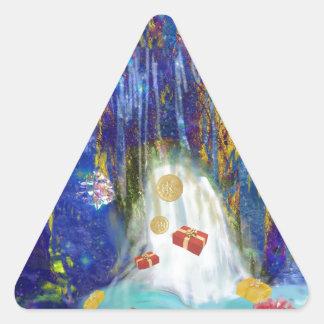 Source of joys. triangle sticker