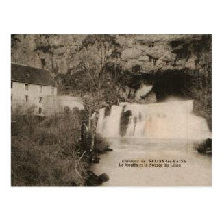 Source of River Lizon Salins les Bains France 1920 Postcard